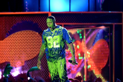 Michael Strahan slimed