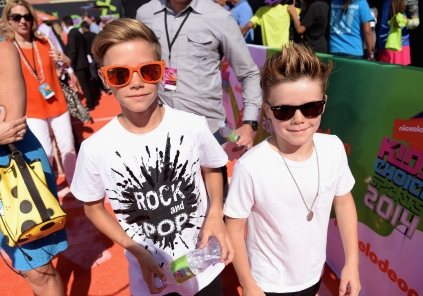 Romeo Beckham and Cruz Beckham