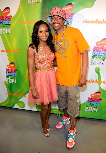Gabby Douglas and Nick Cannon