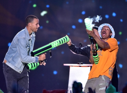 Stephen Curry and Nick Cannon