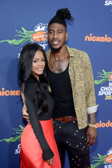 Actress Teyana Taylor(L) and NBA player Iman Shumpert