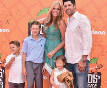 Softball player Jennie Finch and family
