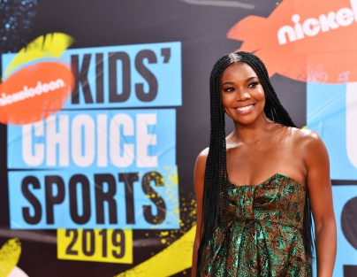 Gabrielle Union attends Nickelodeon Kids' Choice Sports 2019 at Barker Hangar on July 11, 2019 in Santa Monica, California