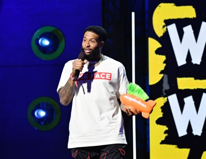 Odell Beckham Jr. accepts the 'King of Swag' award